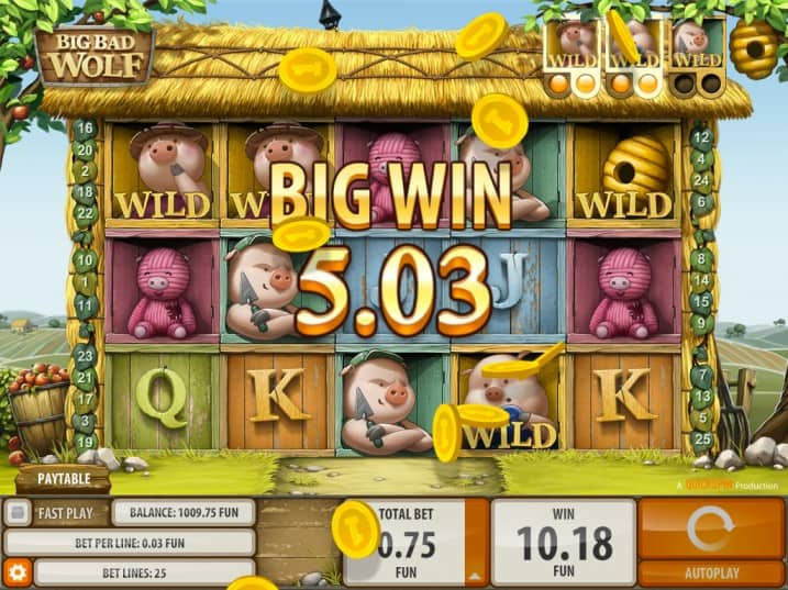 Big Bad Wolf Pokie by Quickspin - Golden Reels Casino Review