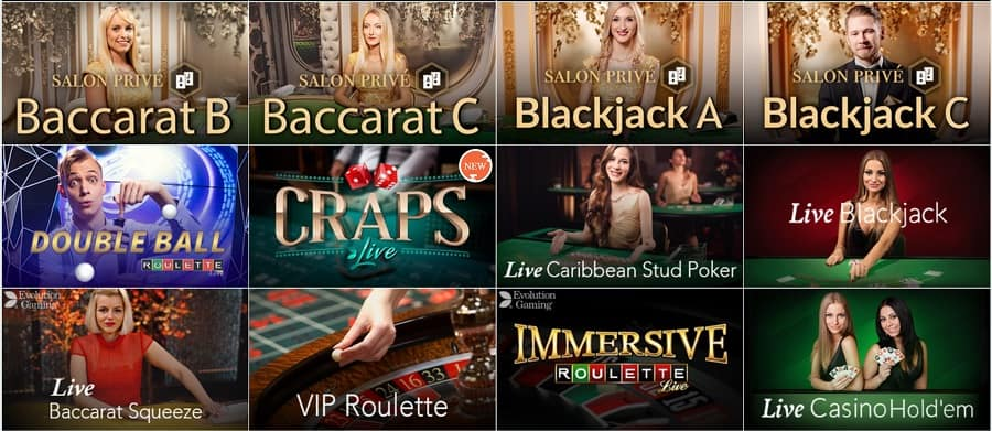Live Dealers Section at Golden Reels Casino