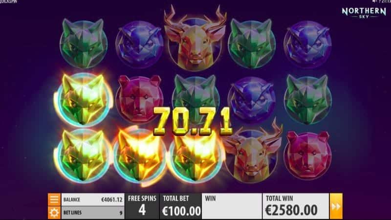 Golden Reels Casino - Northern Sky Pokie