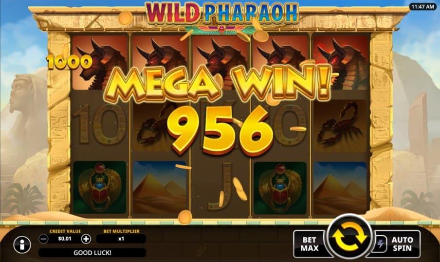 Wild Pharaoh Pokie by Swintt - Golden Reels Casino