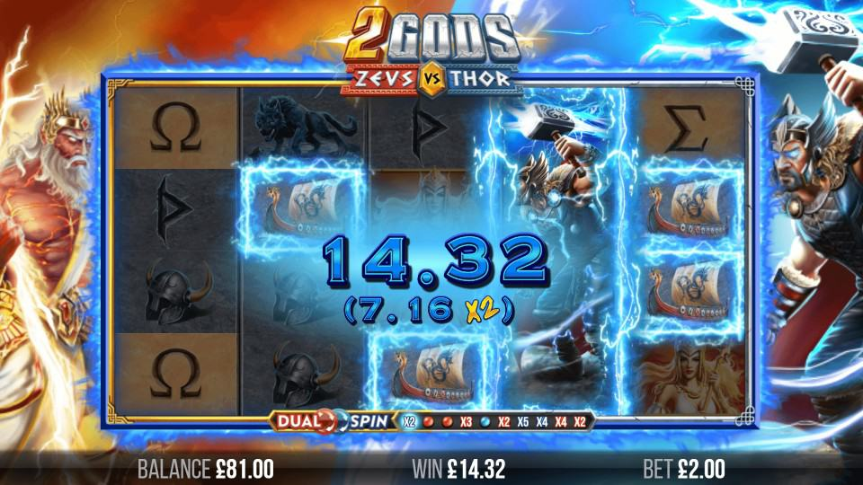 2 Gods Zeus vs Thor Slot by Yggdrasil