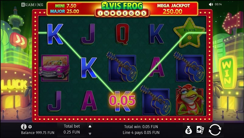 Elvis Frog in Vegas Pokie by BGaming - Bitkingz Casino