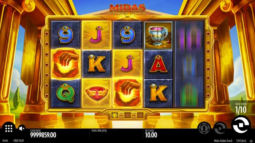 Midas Golden Touch Pokie by Thunderkick