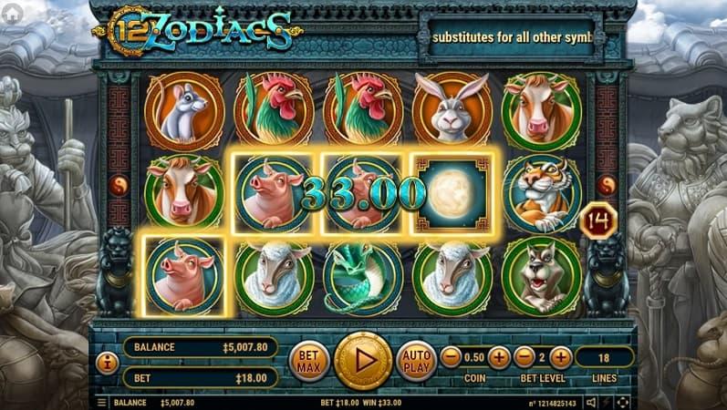 12 Zodiacs Slot by Habanero at Casinomia