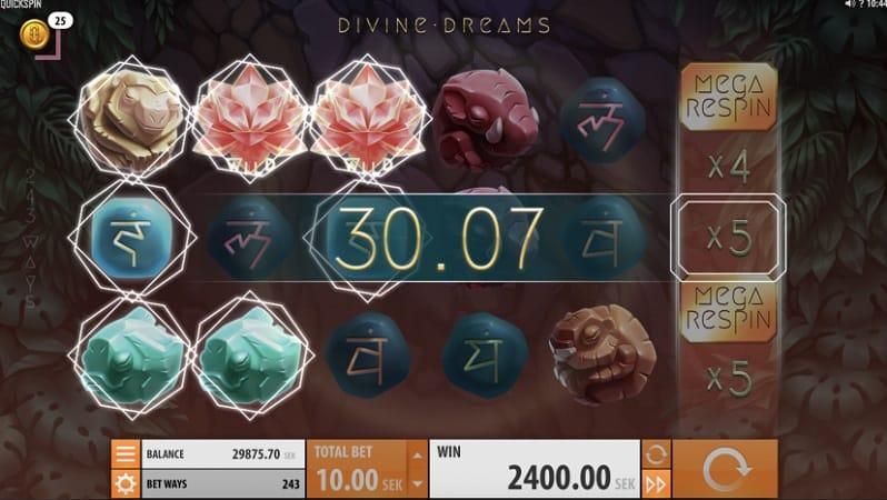 Divine Dreams Pokie by Quickspin - Casoo Casino
