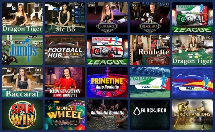 Casoo Review - Live Casino Section