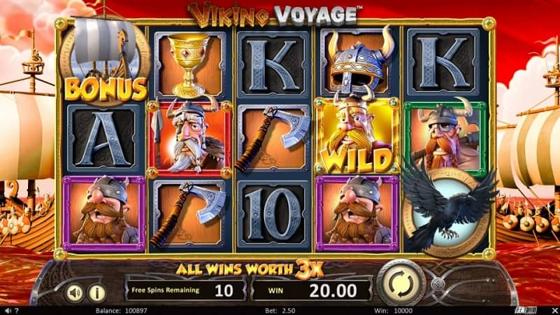 Viking Voyage Pokie by BetSoft at Casoo
