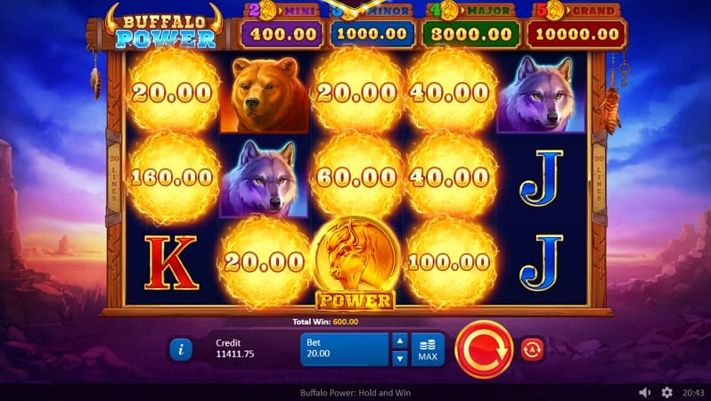Buffalo Power Slot by Playson at Kim Vegas Casino
