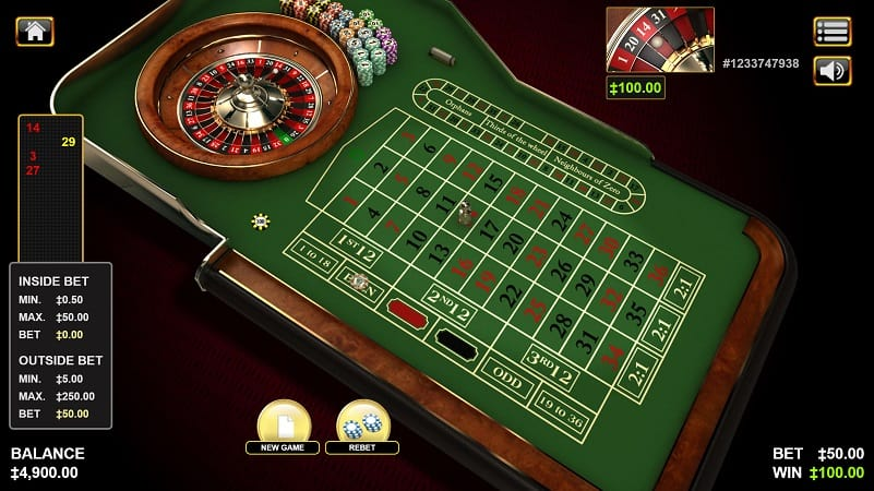 Roulette Game by Habanero at Kim Vegas Casino