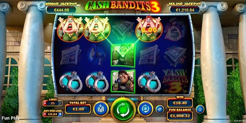 Cash Bandits 3 Slot by RTG at Ozwin Casino
