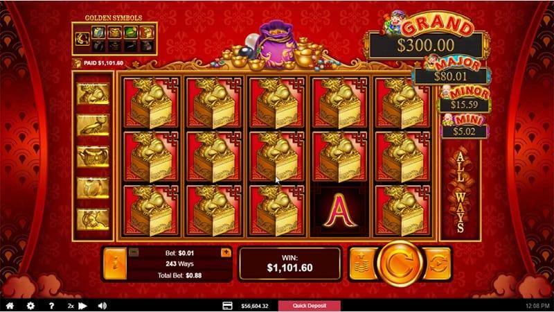 Plentiful Treasure Pokie at Ozwin Casino