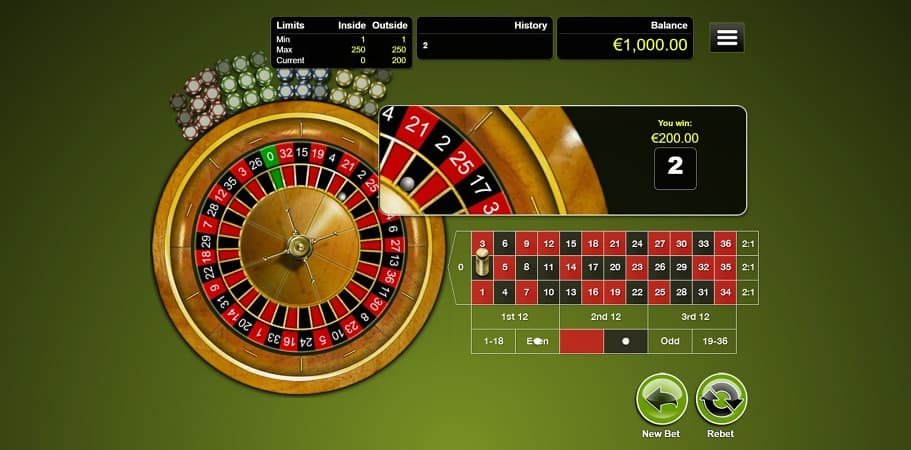 Roulette Game by RTG