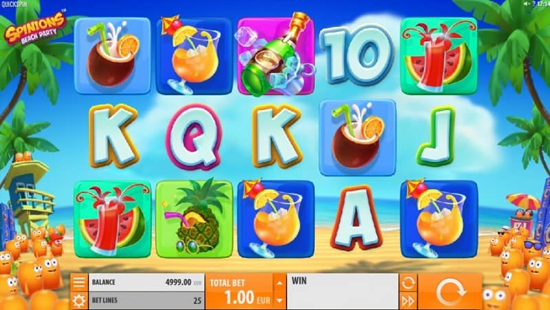 Pokie Place Casino Review - Spinions Beach Party Pokie by Quickspin