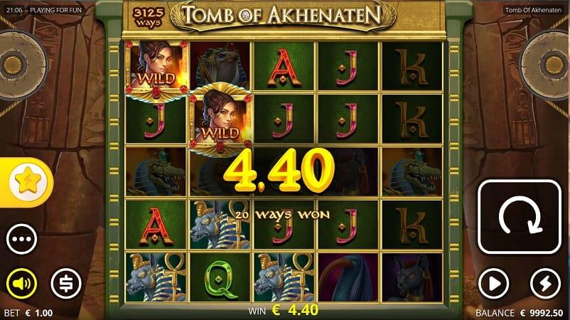 Pokie Place Casino Review - Tomb of Akhenaten Pokie by Nolimit