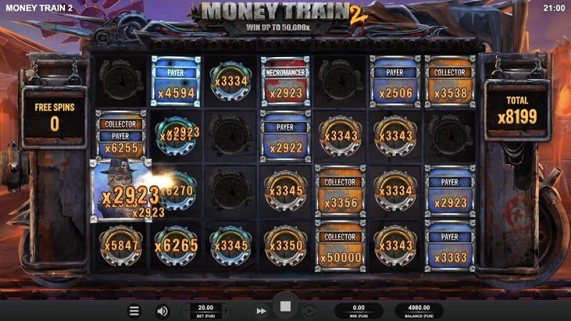 Free Spins Bonus on Money Train 2 Pokie by Relax Gaming