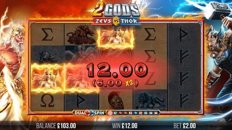 2 Gods Zeus versus Thor Pokie by 4theplayer at Queenspins