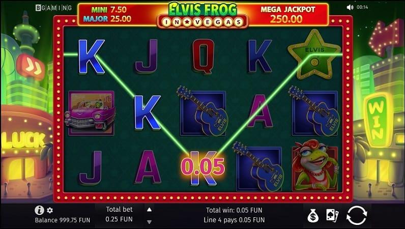 Elvis Frog in Vegas Pokie by BGaming - Queenspins Casino